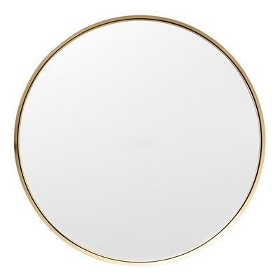 Interni - Specchi - Specchio murale Darkly Large - / Metallo - Ø 60 cm di Menu - ottone spazzolato - Ottone, Vetro