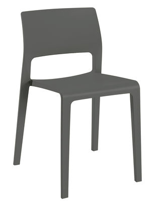 Furniture - Chairs - Juno Stacking chair by Arper - Anthracite - Polypropylene