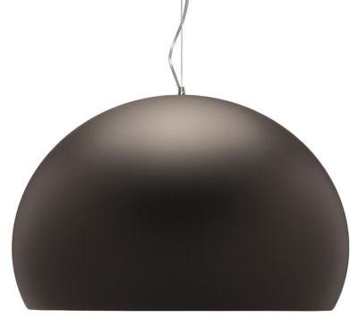 Suspension BIG FL/Y / Ø 83 cm - Kartell marron opaque mat en matière plastique
