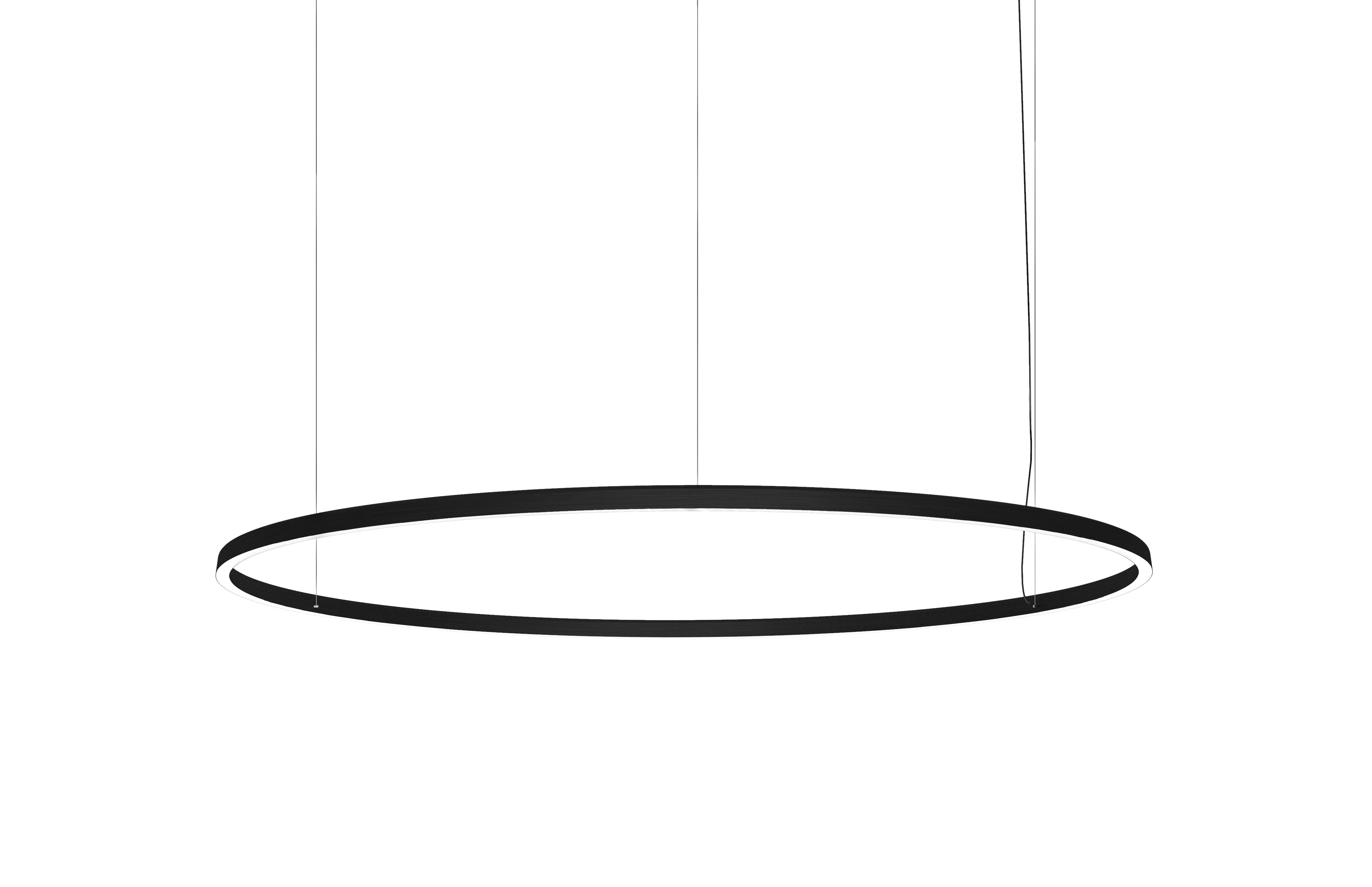 Luminaire - Suspensions - Suspension Compendium Circle / LED - Ø 72 cm - Luceplan - Noir - Aluminium