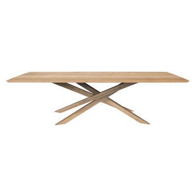 Table rectangulaire Mikado / Chêne massif - 280 x 110 cm / 10 personnes - Ethnicraft bois naturel en bois