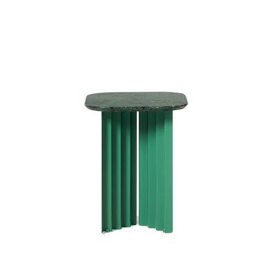 Arredamento - Tavolini  - Tavolino d'appoggio Plec Small - / Marmo - 37 x 37 x H 45 cm di RS BARCELONA - Verde - Acciaio, Marmo