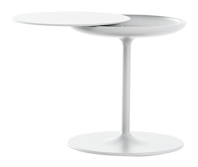 Arredamento - Tavolini  - Tavolino d'appoggio Toi - Ø 42 - H 50 cm di Zanotta - Bianco - Multistrato placcato in alluminio, Poliuretano