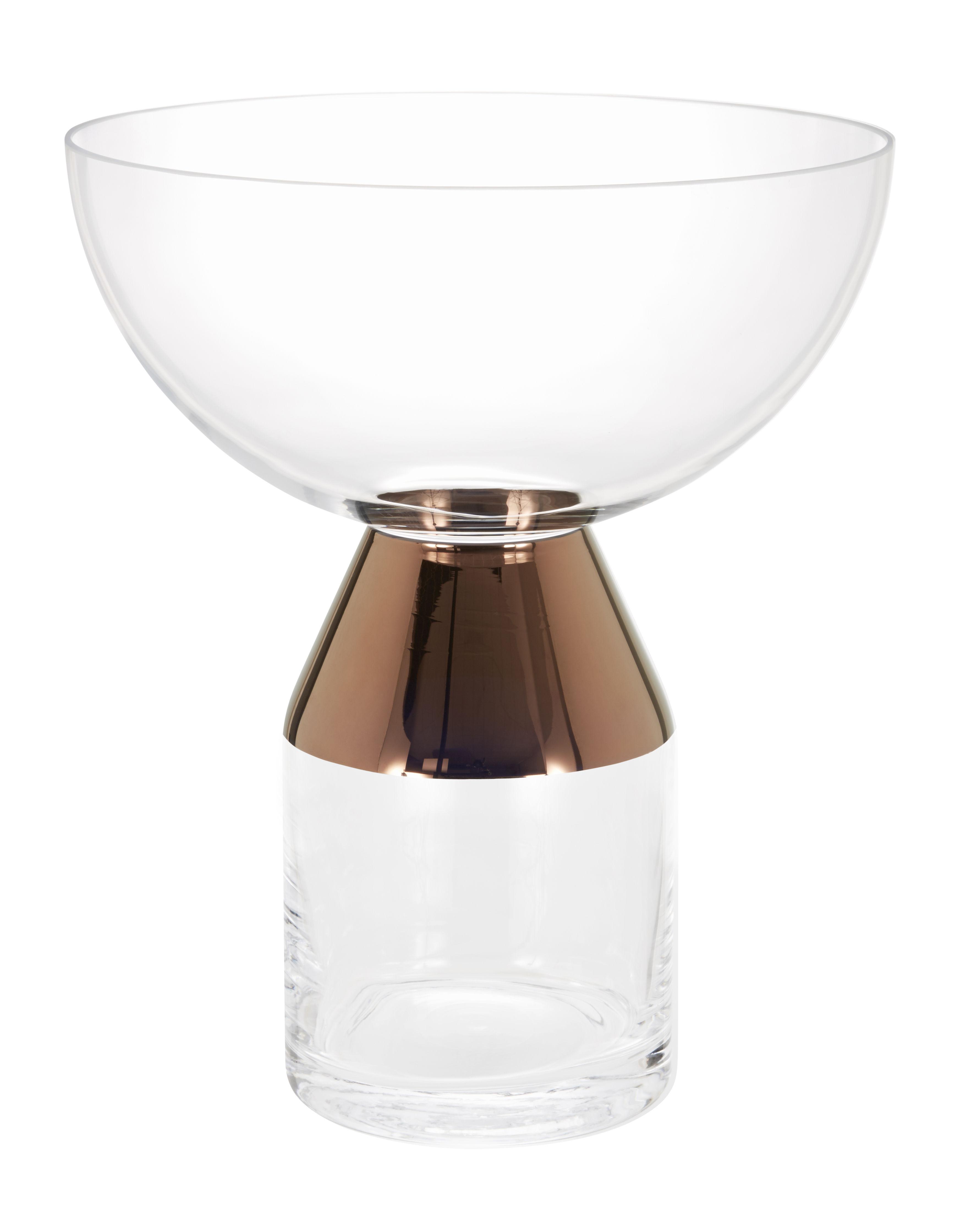 Dekoration - Vasen - Tank Vase / large - Tom Dixon - Transparent / Kupfer - mundgeblasenes Glas