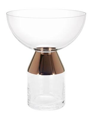 Interni - Vasi - Vaso Tank - / Largo di Tom Dixon - Trasparente / Rame - Vetro soffiato a bocca