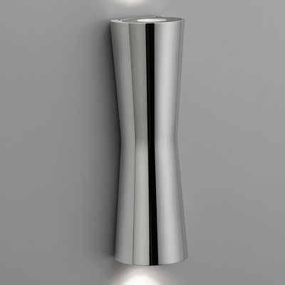 Leuchten - Wandleuchten - Clessidra 40° Wandleuchte LED - für innen - Flos - Chrom-glänzend - Gussaluminium, PMMA