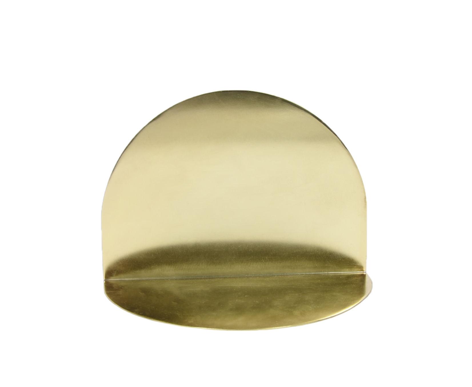 Möbel - Regale und Bücherregale - Archal Wandregal / Halbmond - L 28 cm x H 20 cm - ENOstudio - Messing / Halbmond - Acier finition laiton