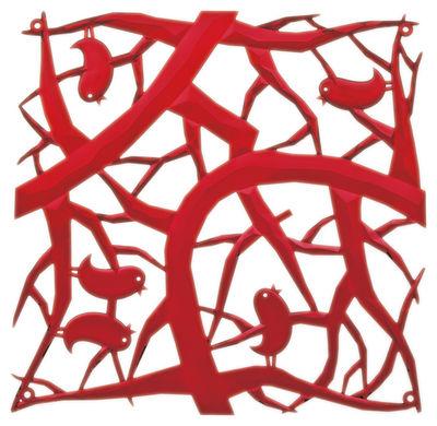 Möbel - Paravents, Raumteiler und Trennwände - PI:P Zwischenwand - Koziol - Rot transparent - Polykarbonat