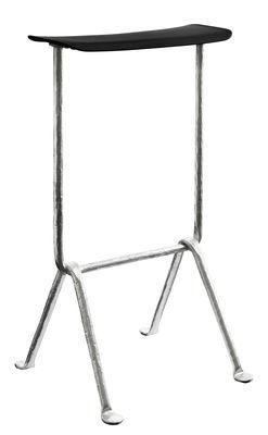 Furniture - Bar Stools - Officina Bar stool - Polypropylen - H 75 cm by Magis - Black / Galvanized structure - Polypropylene, Wrought iron