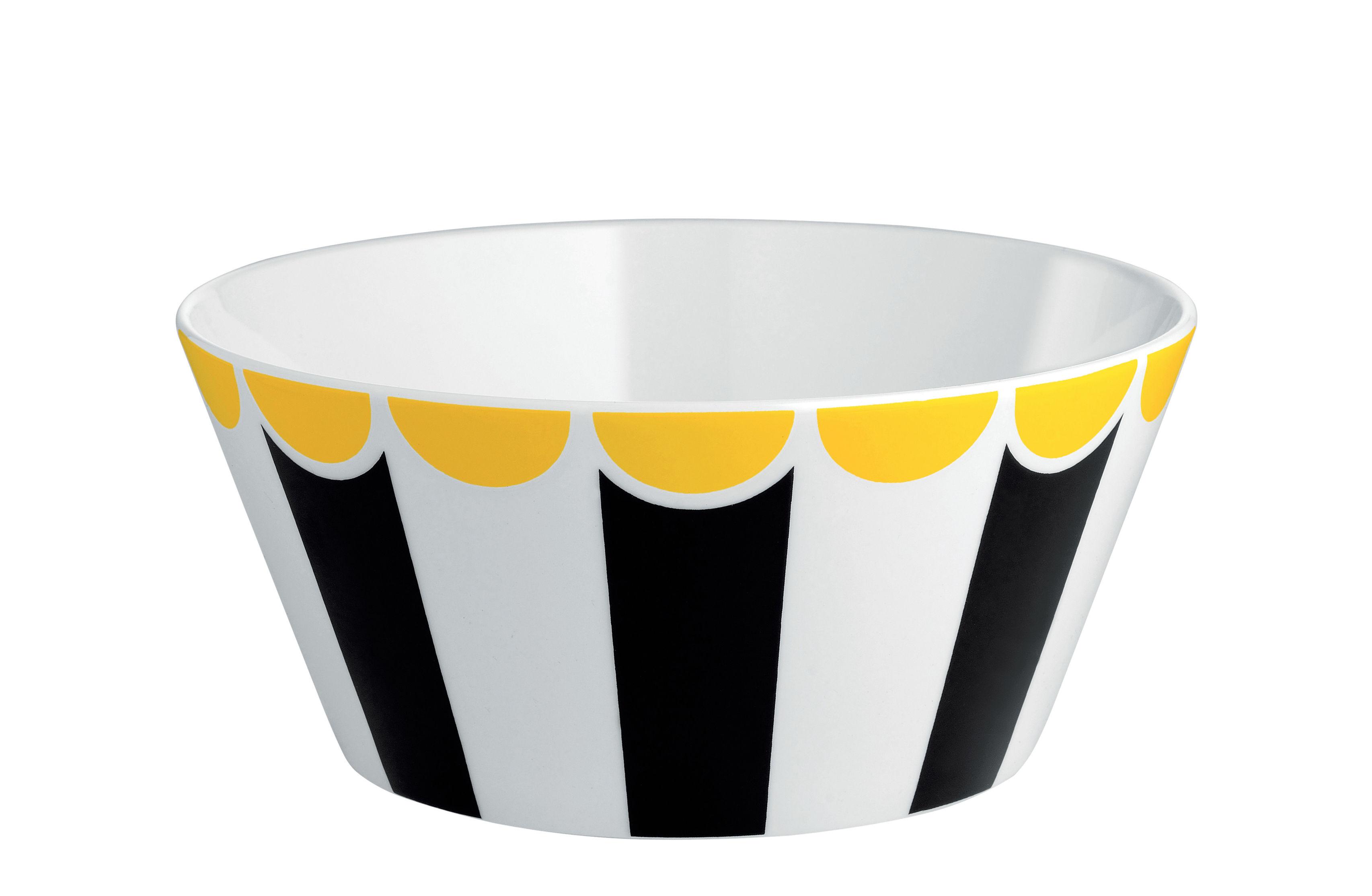 Arts de la table - Saladiers, coupes et bols - Bol Circus / Ø 16 x H 7 cm - Porcelaine anglaise - Alessi - Noir et blanc - Porcelaine anglaise