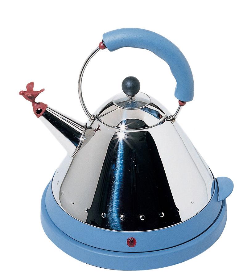 Cucina - Elettrodomestici - Bollitore elettrico Oisillon di Alessi - Blu - Acciaio inossidabile, Resina termoplastica