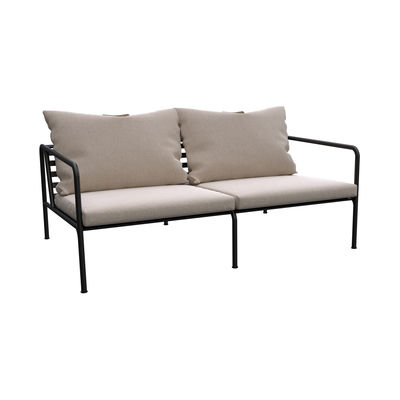 Mobilier - Canapés - Canapé droit Avon / L 159 cm - Tissu & acier - Houe - Beige Ash - Acier thermolaqué, Mousse polyuréthane, Tissu Sunbrella