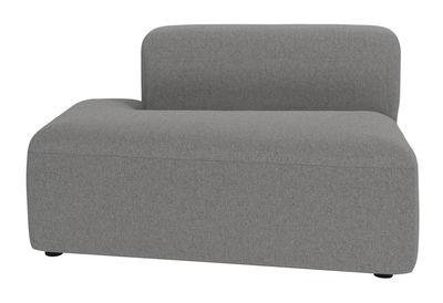 Mobilier - Canapés - Canapé modulable Angle / Module méridienne gauche - Bolia - Méridienne gauche / Gris clair - Bois, Mousse haute densité, Tissu polyester