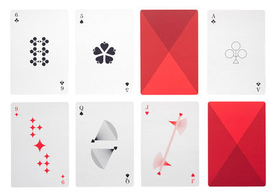 Déco - Pour les enfants - Cartes à jouer / Jeu de 54 cartes - Hay - Rouge - Papier plastifié