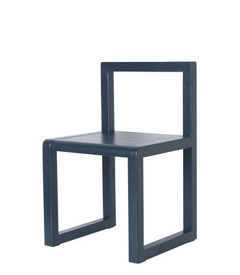 Furniture - Kids Furniture - Little Architect Children's chair - / Wood by Ferm Living - Blue - Ash plywood