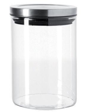 Cucina - Lattine, Pentole e Vasi - Boccale ermetico Comodo - 0,5 L - Leonardo - 50 cl - Trasparente / metallo brillante - Metallo, Vetro