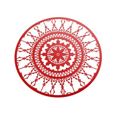 Dessous de verre Italic Lace / Ø 10 cm - Lot de 4 - Driade Kosmo rouge en métal