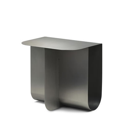 Furniture - Coffee Tables - Mass End table - / 40 x 30 cm - Metal / Built-in magazine rack by Northern  - Brushed steel - Steel
