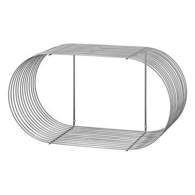 Etagère Curva / L 61 cm - AYTM gris/argent/métal en métal