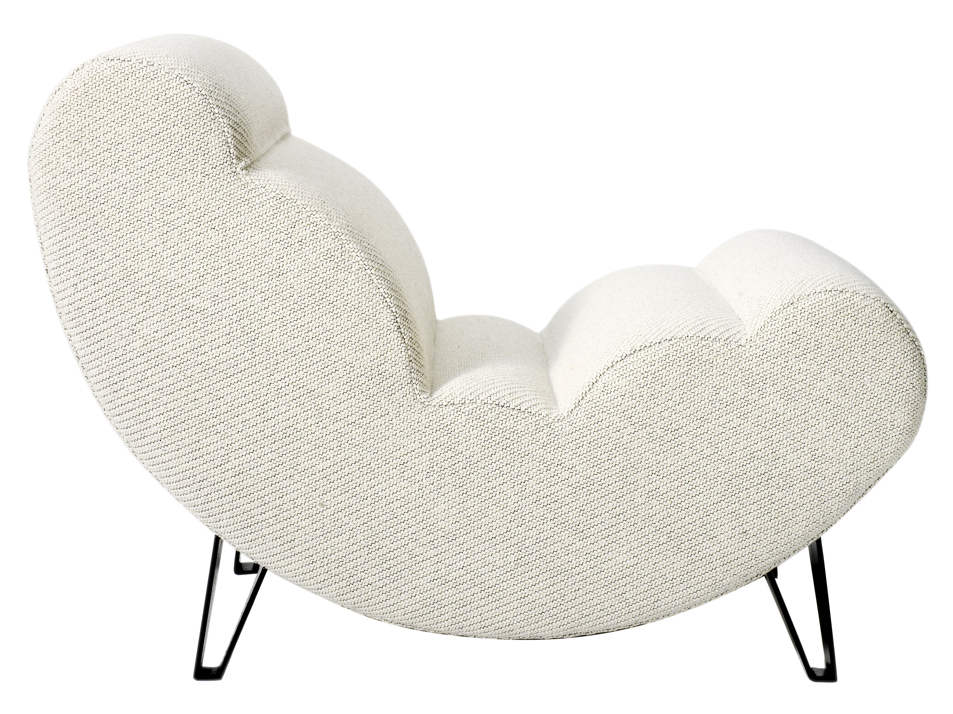Mobilier - Fauteuils - Fauteuil Cloud - Design House Stockholm - Beige - Acier laqué, Tissu