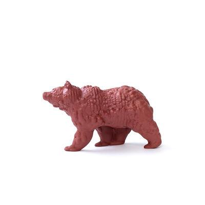 Image of Figurina Orso Small - / Ceramica modellata 3D - L 18 cm di Moustache - Marrone - Ceramica