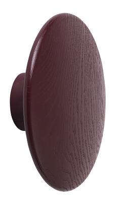 Furniture - Coat Racks & Pegs - The Dots Wood Hook - / Wide - Ø 17 cm by Muuto - Burgundy - Tinted ashwood
