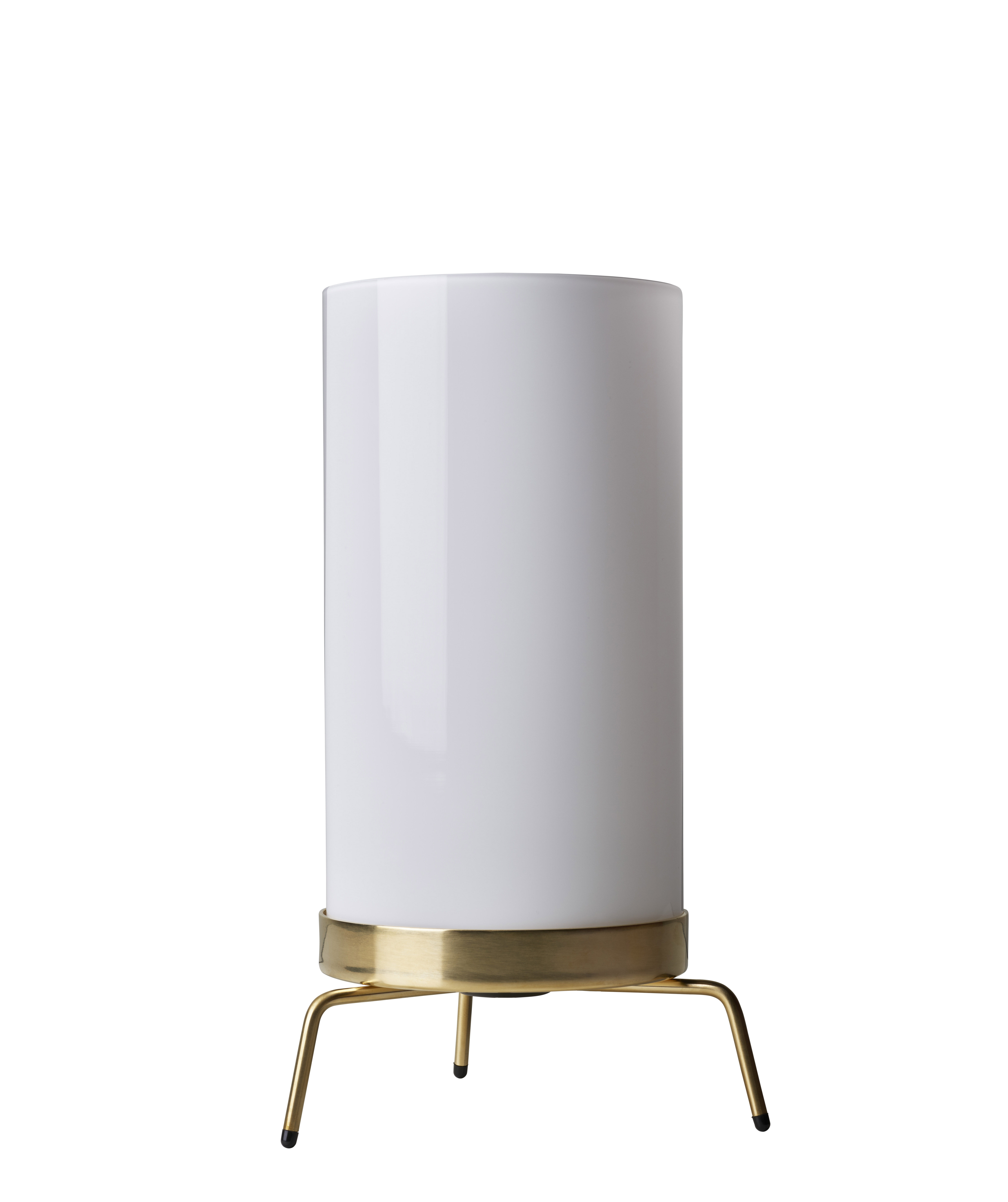 Lighting - Table Lamps - PM-02 Lamp - / 50s reissue by Fritz Hansen - Polished brass / White - Hand-blown frosted glass, Polished brass