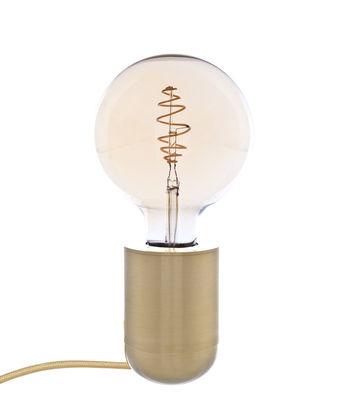 Illuminazione - Lampade da tavolo - Lampada da tavolo Nara - / Applique - H 10 cm di Pop Corn - Ottone spazzolato - Ottone massiccio spazzolato