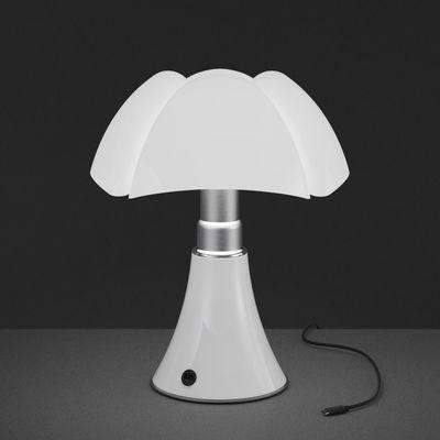 Lampada senza fili minipipistrello led martinelli luce bianco paralume bianco l 190 x h 35 - Lampada da tavolo senza fili ...