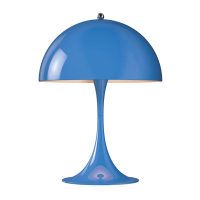 Lampe de table Panthella Mini LED / H 33,5 cm - Métal - Louis Poulsen bleu en métal
