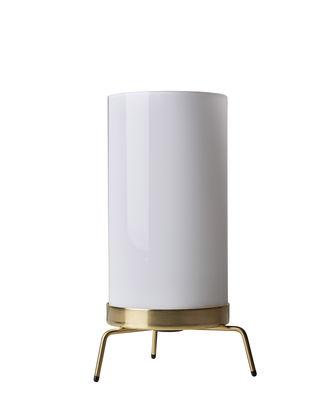 Luminaire - Lampes de table - Lampe PM-02 / Réédition 50' - Fritz Hansen - Laiton poli / Blanc - Laiton poli, Verre dépoli soufflé à la bouche