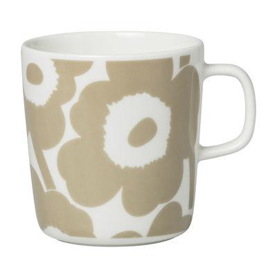 Tableware - Coffee Mugs & Tea Cups - Unikko Mug - / 40 cl by Marimekko - Unikko / Beige - Sandstone
