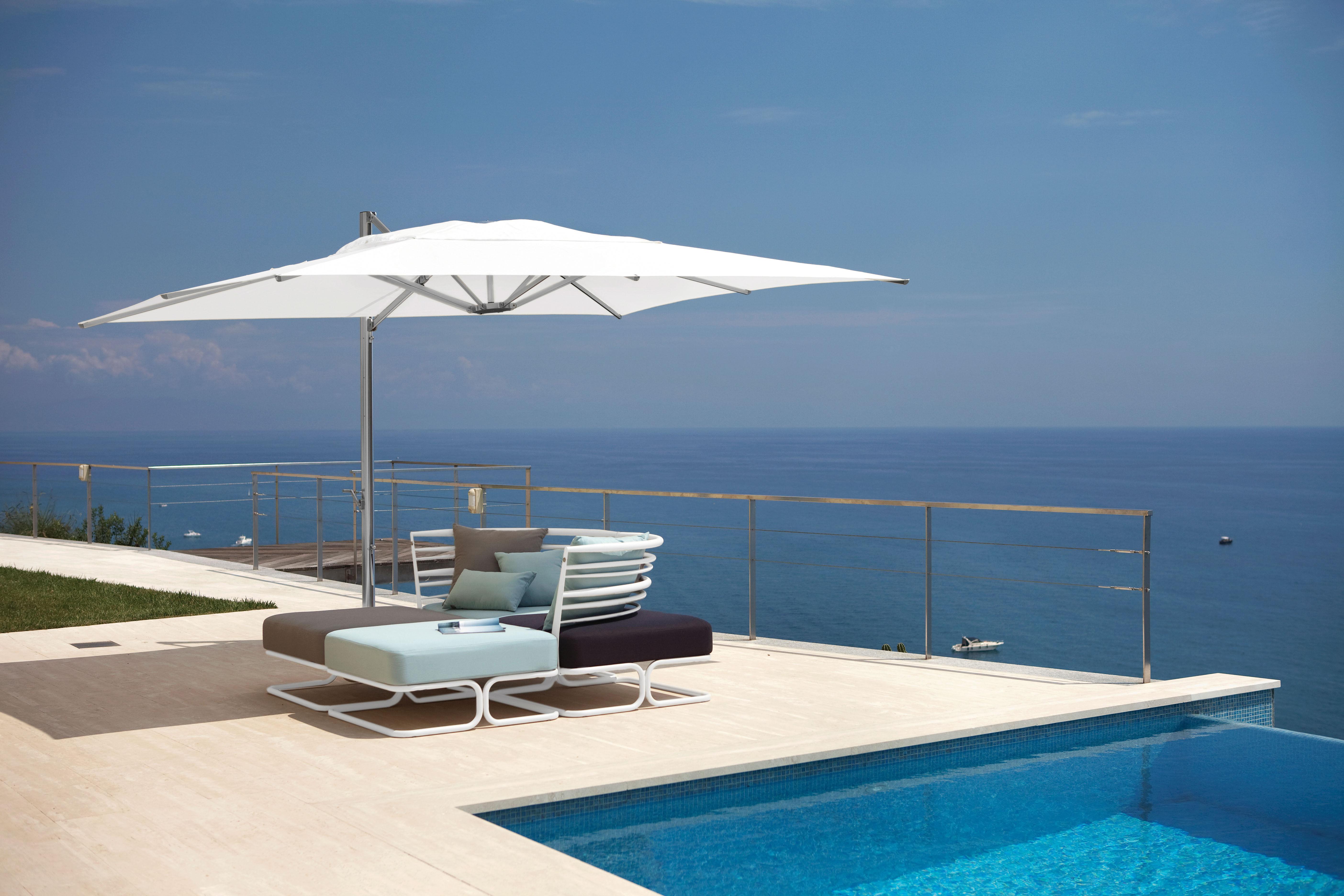 parasol d port shade emu toile taupe m t alu base. Black Bedroom Furniture Sets. Home Design Ideas