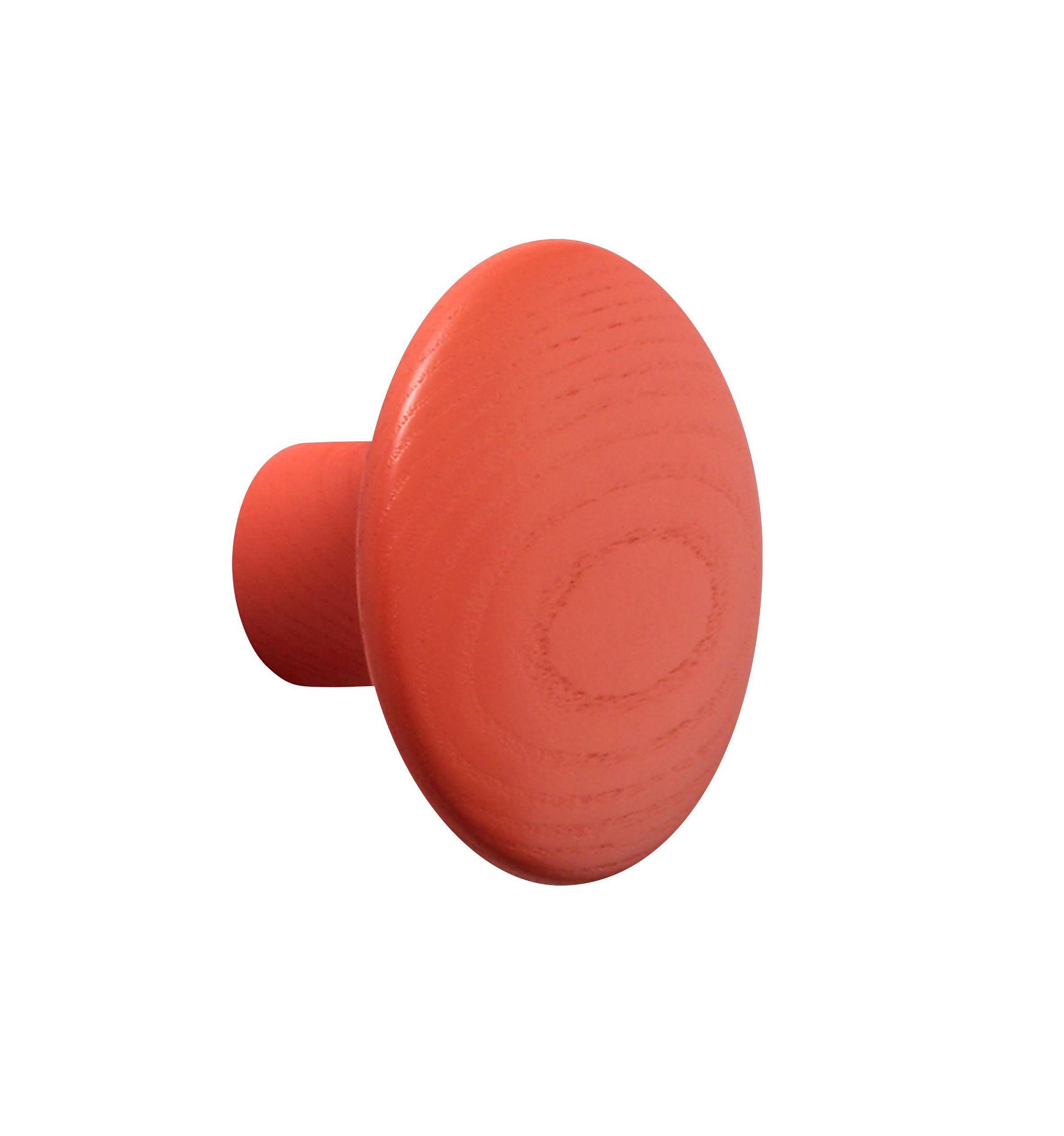 Mobilier - Portemanteaux, patères & portants - Patère The Dots / Small - Ø 9 cm - Muuto - Mandarine - Frêne teinté