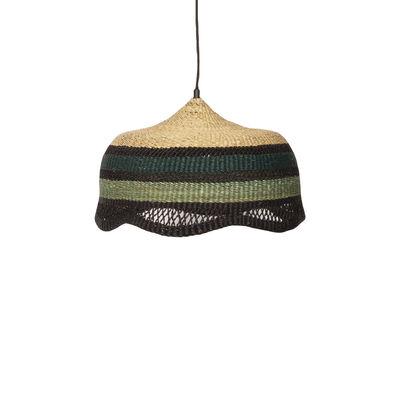 Lighting - Pendant Lighting - Primevère Small Pendant - / Ø 35 cm - Hand-braided natural fibre by Maison Sarah Lavoine - Sarah Blue & Celadon - Veta vera