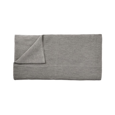 Déco - Textile - Plaid Rhythm / Laine baby lama tricotée main - 160 x 130 cm - Muuto - Gris clair - Laine baby lama
