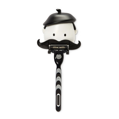 Porte-rasoir Mr Razor / Avec ventouse - Pa Design blanc,noir en matière plastique