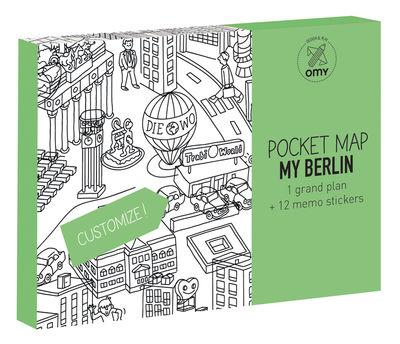 Poster à colorier Pocket Map - Berlin / 52 x 38 cm - OMY Design & Play blanc,noir en papier