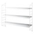 String® Pocket Metal Shelf - / Perforated steel - L 60 x H 50 cm by String Furniture