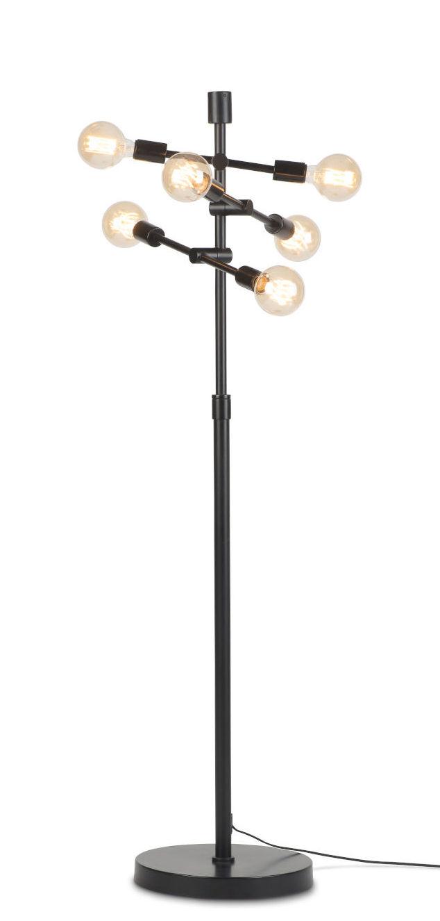 Leuchten - Stehleuchten - Nashville Stehleuchte / mit Gelenkarmen - H 158 cm - It's about Romi - Schwarz - Eisen