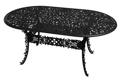 Table ovale Industry Garden L 152 cm Seletti noir en métal