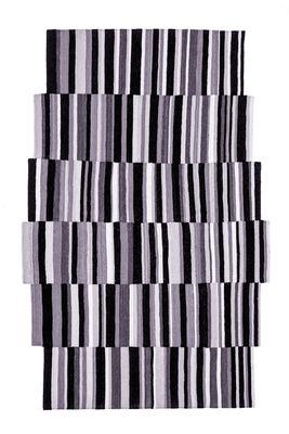 Déco - Tapis - Tapis Lattice / Exclusivité - 185 x 300 cm - Nanimarquina - Gris & noir - Laine afghane
