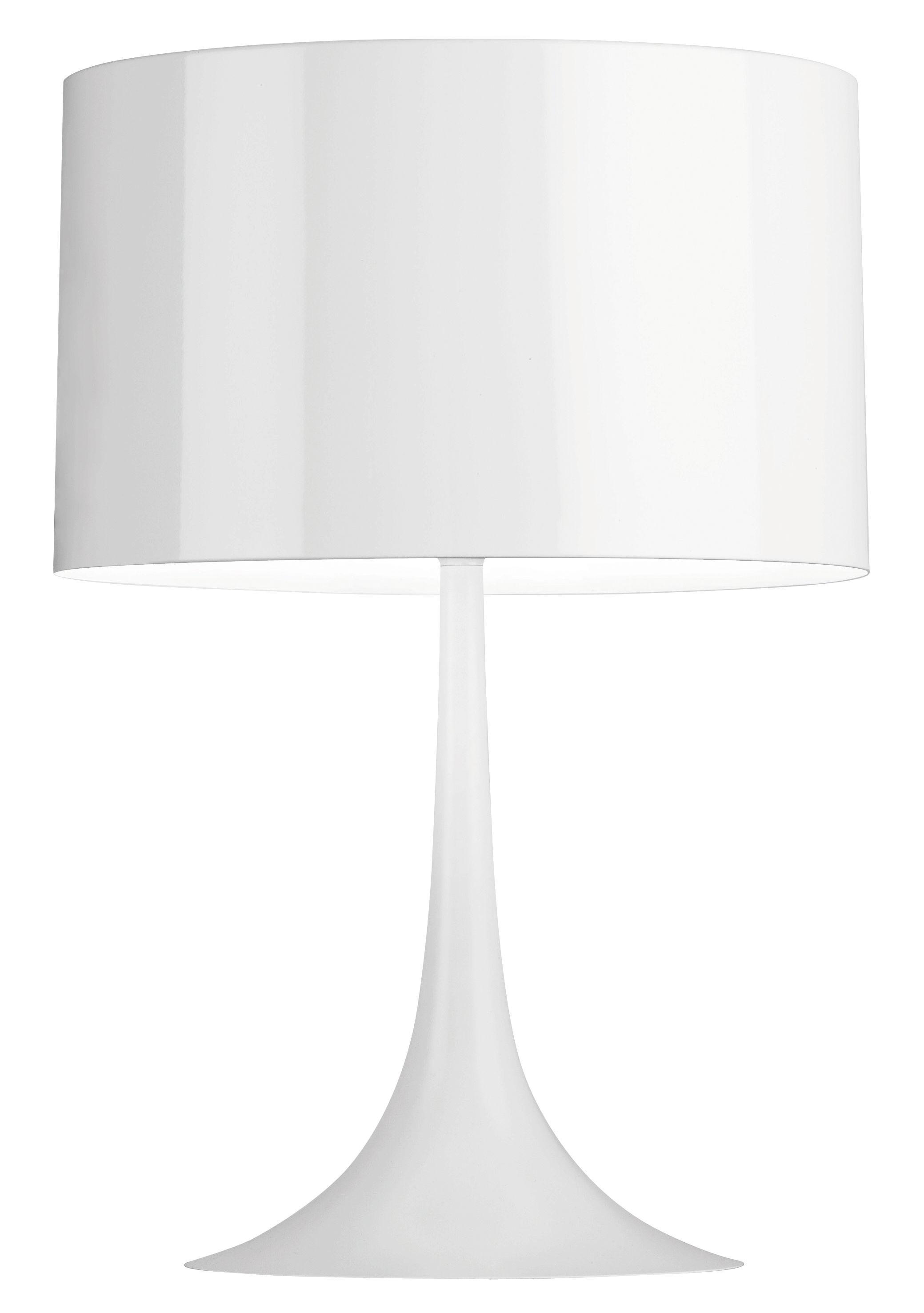 Leuchten - Tischleuchten - Spun Light T1 Tischleuchte H 57 cm - Flos - Glänzendes Weiß - Metall