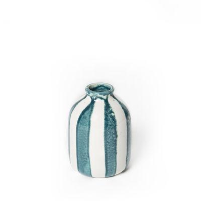 Déco - Vases - Vase Riviera Small / H 14 cm - Maison Sarah Lavoine - Bleu Sarah - Céramique émaillée