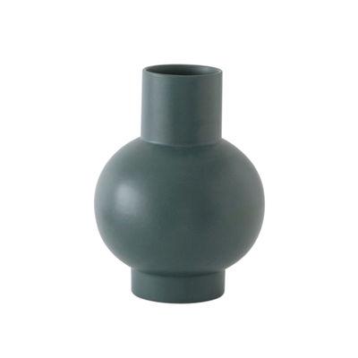 Decoration - Vases - Strøm Large Vase - / H 24 cm - Handmade ceramic by raawii - Gables green - Ceramic