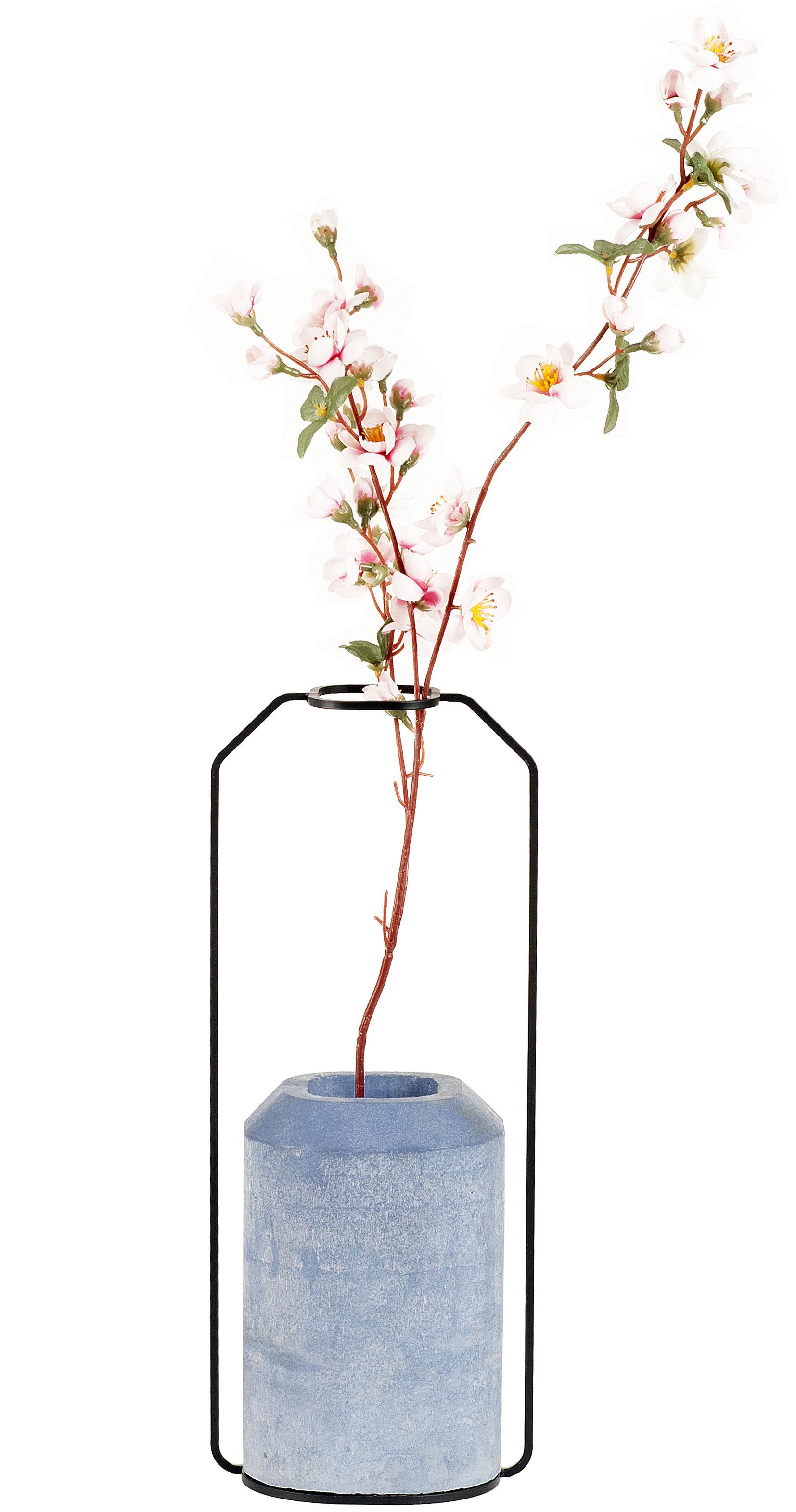 Déco - Vases - Vase Weight C / L 15 x H 36 cm - Spécimen Editions - Bleu - Acier, Béton