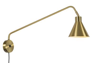 Luminaire - Appliques - Applique avec prise Lyon / Pivotante & orientable - L 70 cm - It's about Romi - Or - Fer