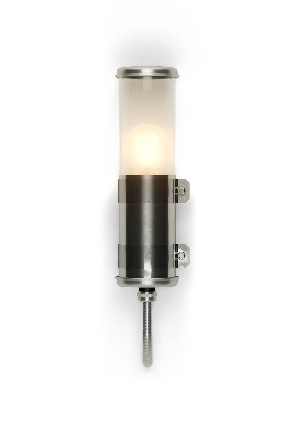 Luminaire - Appliques - Applique Bendz / H 30cm - Transparent - SAMMODE STUDIO - Acier - Acier inoxydable, Polycarbonate