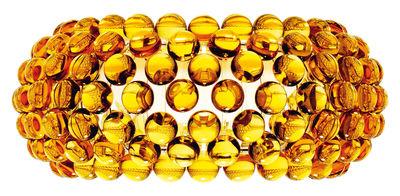 Applique Caboche Media / L 50 cm - Foscarini ambre en matière plastique