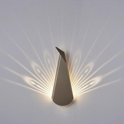 Applique Paon LED / Branchement mural - Compagnie or en métal